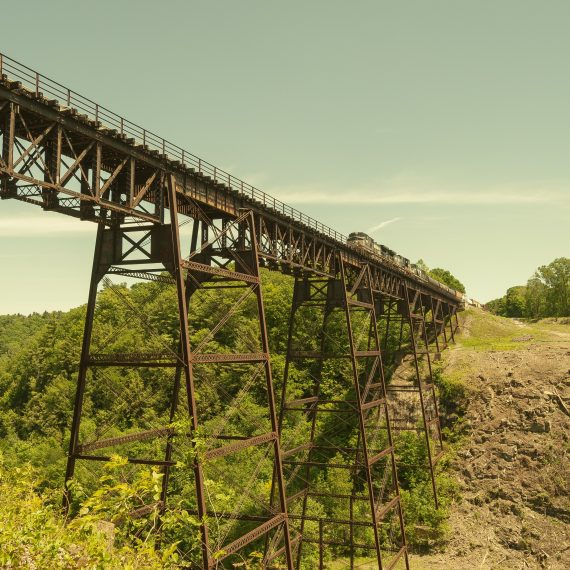 One of the last times a train crossed over the iconic trestle over Letchworth State Park.